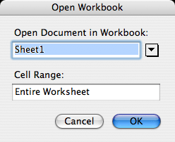 open workbook